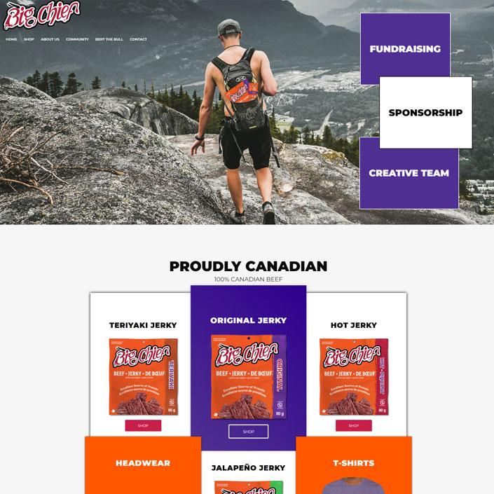 Calgary web design beef jerky