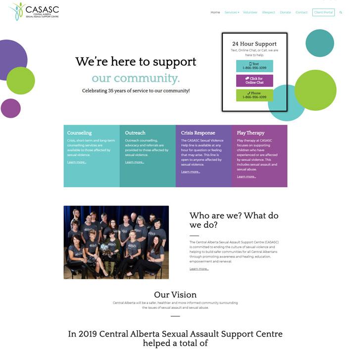 Central Alberta CASASC website design