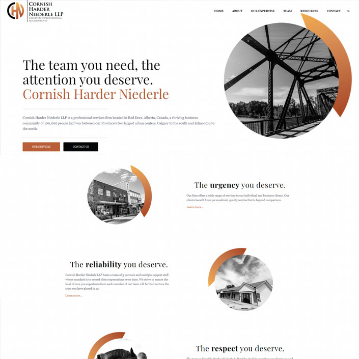 Red Deer accounting firm web design